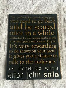 Elton John tour program - An Evening With Elton John Solo