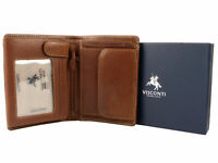 Mens Vicenza Italian Leather Wallet in Tan by Visconti Gift Boxed Sylish
