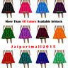 "20"" Long Satin 4 Tiered Mini Skirts Tribal Ruffle Pleated Belly Dance Flamenco"