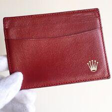 portafogli ROLEX porta carte documenti card case wallet portafoglio red gold oro