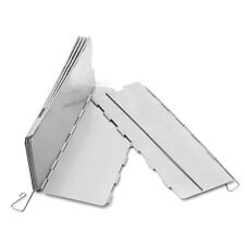 Camping 10 Plates Folding Picnic BBQ Cooking Stove Aluminum Wind Shield