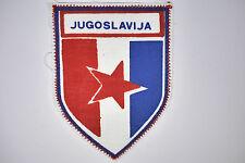 * 1980s vintage printed fabric badge Stoffwappen - Jugoslavija Yugoslavia