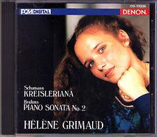 Helene GRIMAUD: BRAHMS Piano Sonata No.2 SCHUMANN Kreisleriana CD DENON JAPAN