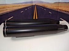 Rinehart Black Slip-On Mufflers 500-0301 Black Caps Exhaust Harley 91-17 Dyna X5