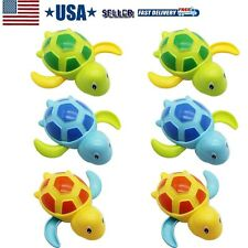 6PCS Swimming Animal Turtle Pool Toys Baby Girls Boys Kids Toddler Bath Tub Toy