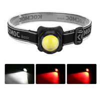 USB Rechargeable Headlamp COB LED Headlight Head Light Flashlight Super-Bright