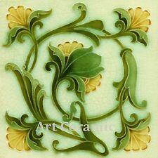 Art Nouveau Reproduction Decorative Ceramic tile 034