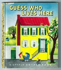 """New listing Guess Who Lives Here ~ vintage 1st """"A"""" ed. Little Golden Book #60, Eloise Wilkin"""