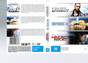 LIKE NEW VERY GOOD R4 DVD 3-DISC SET I ROBOT NDEPENDENCE DAYMINORITY REPORT*