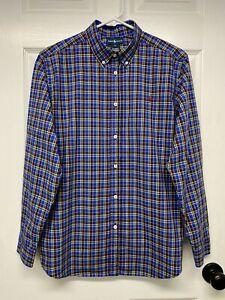 Ralph Lauren Polo Boys L/S Button-Down Shirt: XL, Blue/Red Plaid, Pony