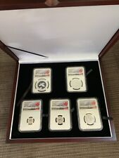 2019 Silver 5-Coin Maple Leaf Fractional Set PF REV70 PROOF Queen Victoria OBO