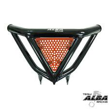 Raptor 700  Intimidator Front Bumper Black & Orange Screens  Alba Racing 197N3BO