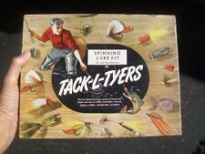Vintage Tack-L-Tyers Spinning Lure Kit # J654 - Evanston Illinois - With Content