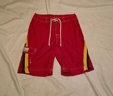 Mens  American Eagle Swim Board Shorts ~ Sz 28 ~ Red ~ Ties in Front