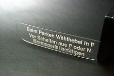 Aufkleber Automatik -  Schaltkulisse Wurzelholz Mercedes W124 W126 W140 R129