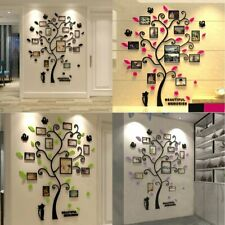 3D Photo DIY Frame Family Tree Wall Decal Sticker Living Room Bedroom Home