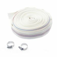 """Layflat Discharge Water Hose White 1"""" 20Mtr"""