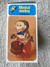 Musical Monkey Clockwork, Affe mit Trommel, Uhrwerkaufzug, Hongkong, Neu