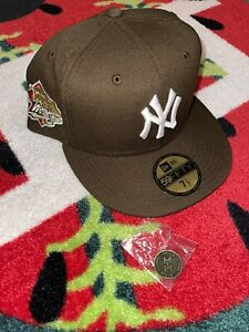 7 1/2 Hat Club Exclusive New York Yankees 1999 Mocha Brown Red NoHo Rare Size