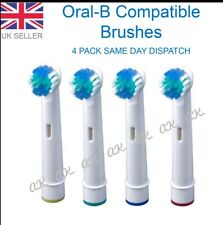 Electric Toothbrush Replacement Heads Compatible With Oral B Braun Models-4 PACK