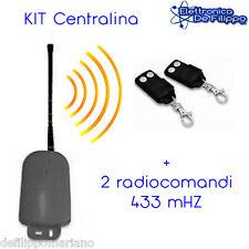 RICEVITORE DA INTERNO RADIOCOMANDI APRICANCELLO APRIPORTA +2 RADIOCOMANDI 433MHZ