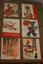 6 - VINTAGE CHRISTMAS GREETING CARDS 1950-1960 - NEW - UNUSED - UNSIGNED - LOT B