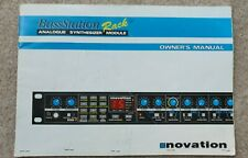 Original Novation Bass Station Rack synthesizer manual, synth Midi CV free ship
