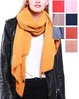 Womens Warm Oversize Thick Winter Shawl Wrap Scarf Plain UK Seller Fashion Style