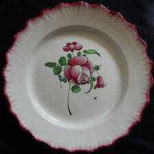 A145) Piatto vecchio in ceramica di l'Est (San Clément? Lunéville?) fiori