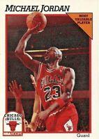 1991 HOOPS MICHAEL JORDAN BULLS MVP #30 NBA BASKETBALL CARD