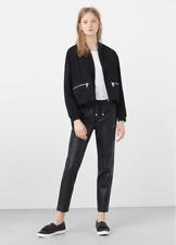 MANGO Faux-leather pants SIZE M