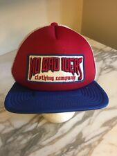 san francisco b87c1 9c517 NO BAD IDEAS MEN S MESH SNAPBACK TRUCKER HAT CAP Red White Blue