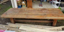 HUGE Oak Farmhouse Style Table - Dining - Kitchen -From Moody Bible Camp