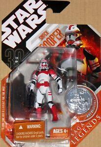 Star Wars 30th ANNIVERSARY Hasbro Saga Legends CLONE SHOCK TROOPER Figure w/Coin