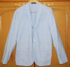 Polo Ralph Lauren Light Blue Custom Fit Oxford Jacket Blazer Sportcoat-40R-NWT
