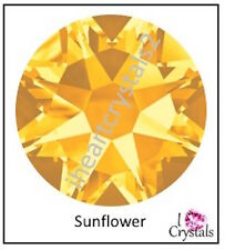 SUNFLOWER Yellow 16ss 4mm 144 pieces Swarovski Crystal Flatback Rhinestones 2088
