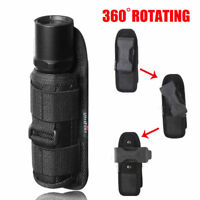 360 Degrees Rotat Torch Flashlight Nylon Pouch Holster Belt Carry Case Holder SA