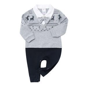 Infant Boys Romper Gentlemen Bodysuit Baby Formal Uniform Summer Casual Jumpsuit