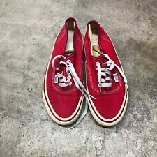 Authentic Vintage Vans Classic Skate Shoe Size 6.5 Made in Usa Red Van Doren 80s