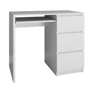 LIMA - Home Office Desk - Left or Right Drawers - Matt White