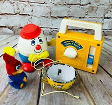 Retro Kids Toys Lot of 4 Humpty Dumpty When You Wish Upon A Star Radio Woody Cup