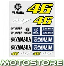 VR46 Valentino Rossi Yamaha M1 Grande Pegatinas Set 46 carreras De Fábrica