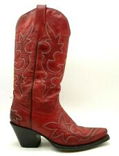 Corral Red Leather Cowboy Western Fashion Boots Shoes Women's 6.5 M