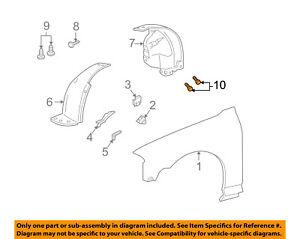 FORD OEM-Fender Liner Splash Shield Retainer W704340S300