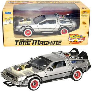 DELOREAN DMC BACK TO THE FUTURE 3 WELLY 1/24 SCALE DIECAST MODEL CAR NEW IN BOX