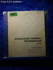 Sony Bedienungsanleitung DCT H2 Schnurrloser Telefon Handapparat (#0903)