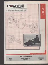 1987 POLARIS SNOWMOBILE INDY SPORT & TRAIL  P/N 9911270  PARTS MANUAL (771)