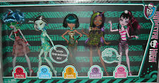 MONSTER HIGH EXCLUSIVE GIFT SET 5 GHOULIA,FRANKIE,CLEO de NILE,CLAWDEEN DRACULAR
