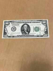 1928 $100 FRN Big 10 Kansas City AU condition Redeemable in Gold on Demand