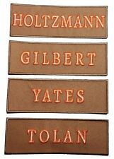 Ghostbusters Name Tag Set of 4 Tan Embroidered Iron On Patches
